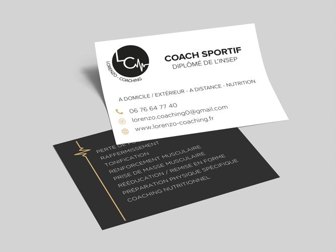 carte visite coach sportif Carte de visite – Mélissa Drevet